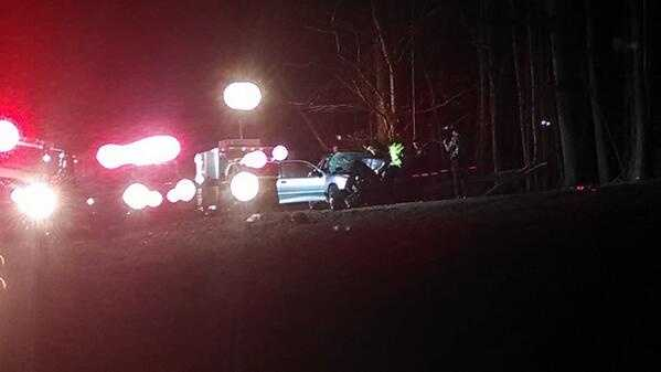 One person was killed in a single-car accident Tuesday morning in Davie County.