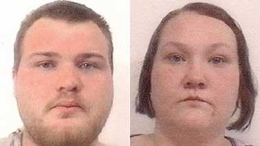 Aaron McIntyre, left, and Brittney Williams, right