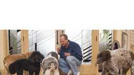 Dr. Bellows and his dogs