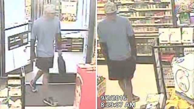 Surveillance images of Dollar Store armed robbery suspect