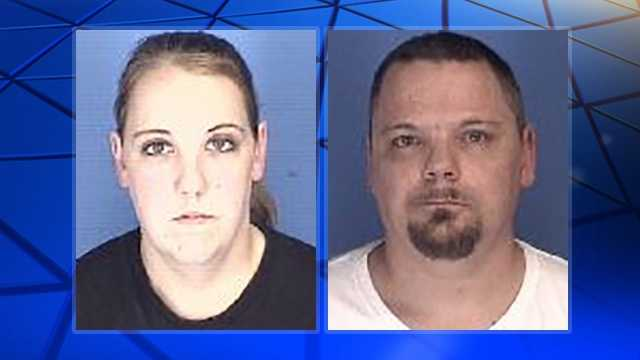 Heather Rowland, left, and Eric Chambers, right