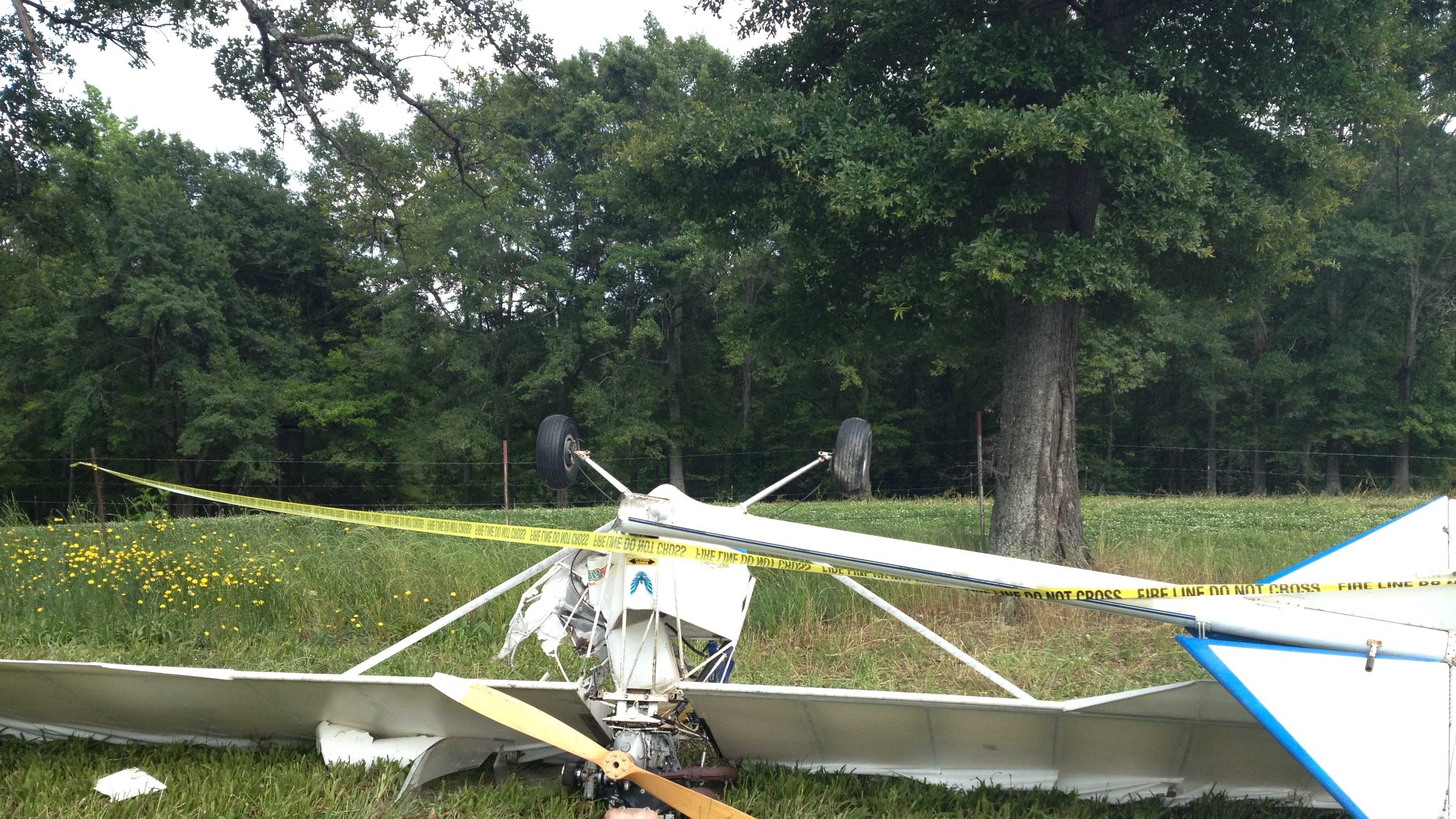 A featherlight aircraft crashed in Fountain Inn, injuring one person, according to Fountain Inn police.