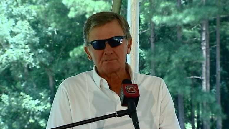 Interview with USC head coach Steve Spurrier from the USC media golf outing