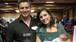 Blough with his wife and their son after he was awarded NAMI's Best Recovery Member of 2011
