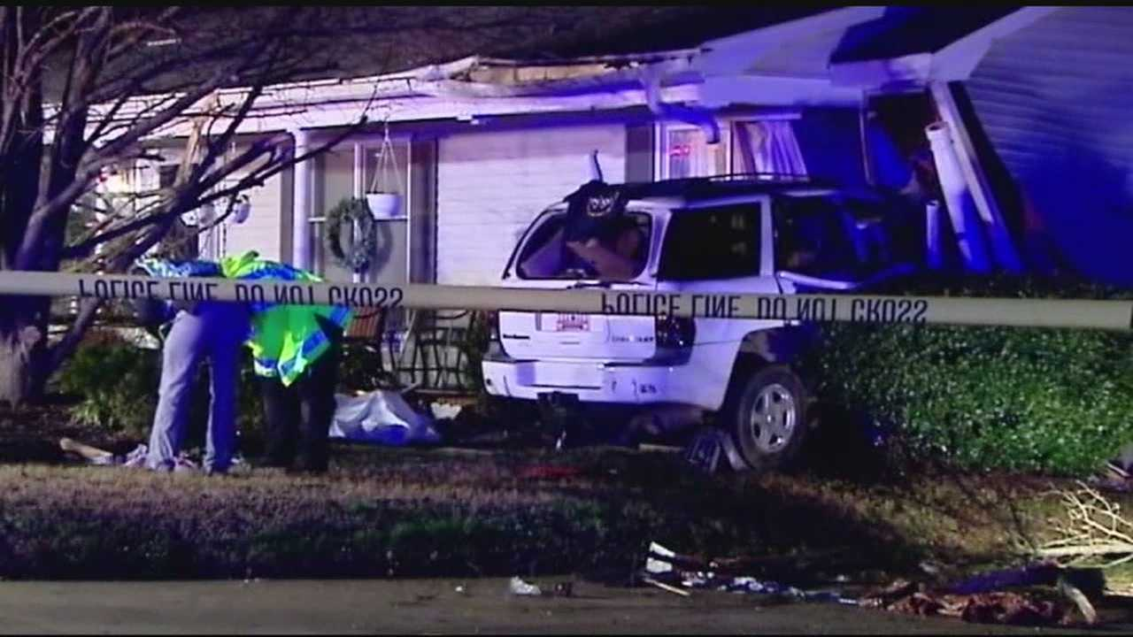 One person died after a car crashed into a house in Simpsonville on Christmas Eve