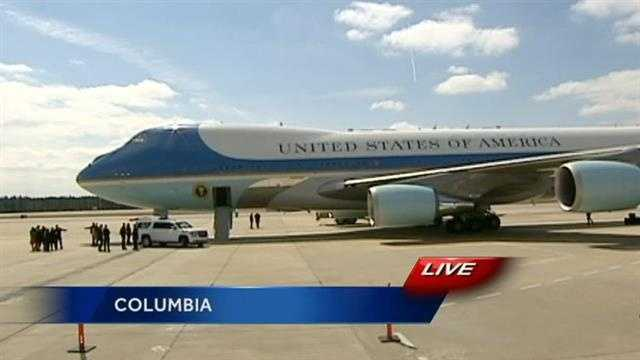 President Barack Obama visits South Carolina for the first time since being elected.
