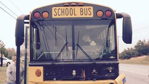 School bus collision (note this is a generic picture it is not associated with the dump truck rear-end crash)