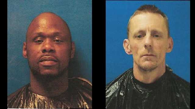 Steven Eugene Parker (left) and Donald Edward Creswell Jr. (right): Charged with murder