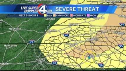 An unseasonably strong cold front could lead to severe weather in the Upstate and Western North Carolina.