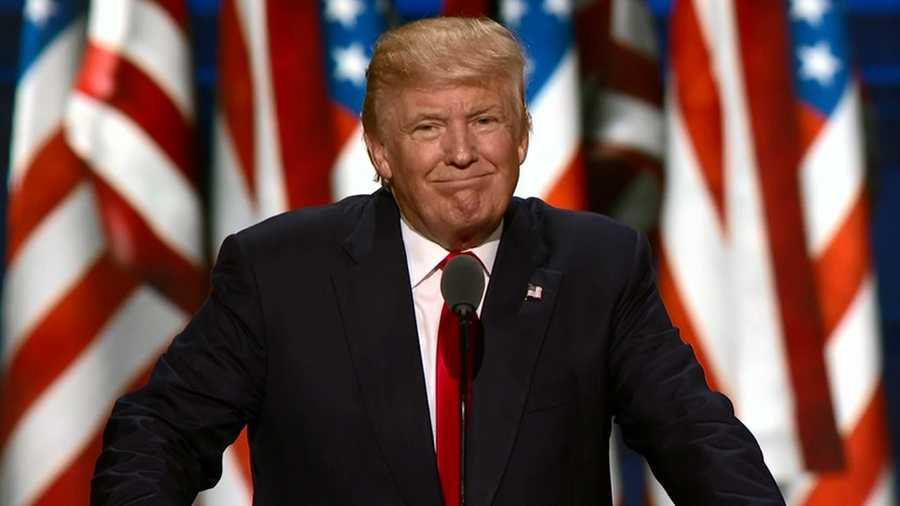 President Donald Trump, from his victory speech