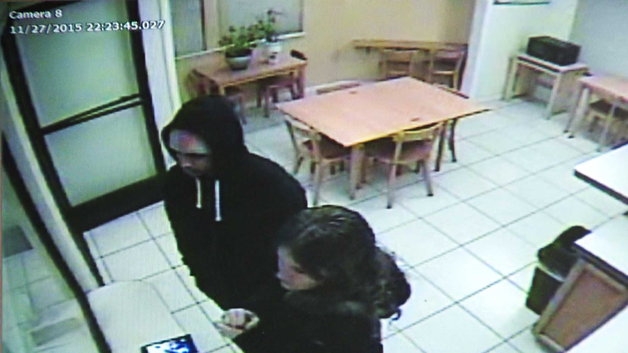 Huntsman and Curiel are seen checking into a Motel 6 on Nov. 27 in Dunnigan, Calif.