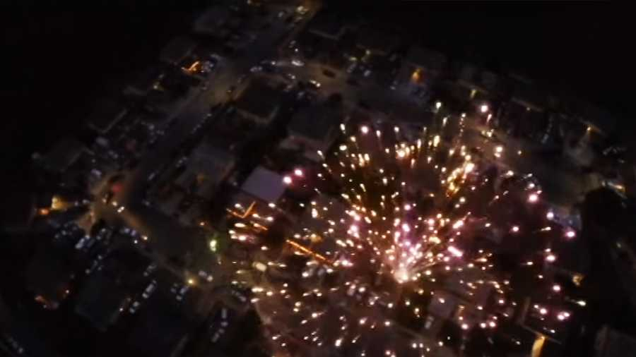This is what one Salinas neighborhood on Las Cruces Way and San Blanco Court looked like from a drone flying above on July 4, 2015.