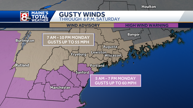 Gusty Damaging Winds Lead To Power Outages Across Maine