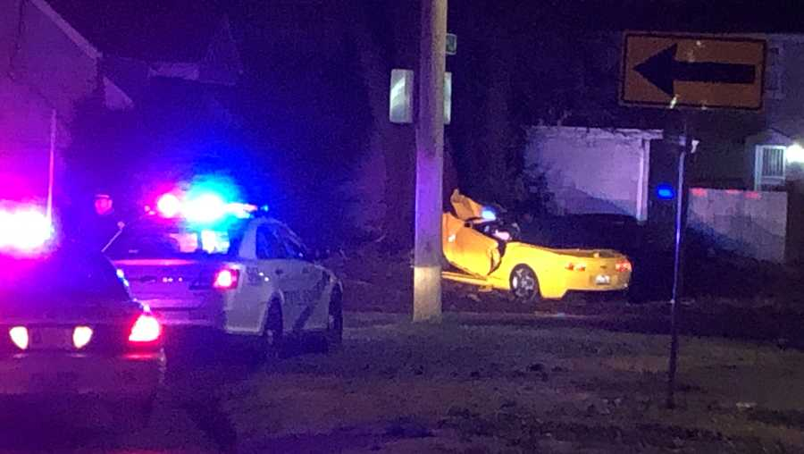 Louisville Metro Police is on the scene of a police chase and crash on 22nd Street on Monday, Dec. 14 2020