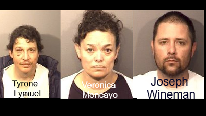3 arrested in Marina for drug possession and probation violation.