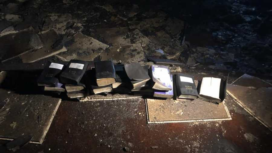 Bibles, crosses survive massive fire at West Virginia church
