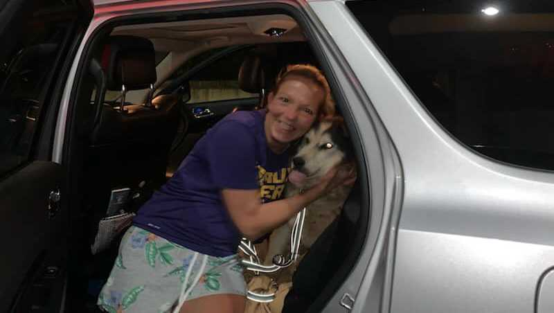 Oreo and her owner were reunited Sunday after eight years apart.