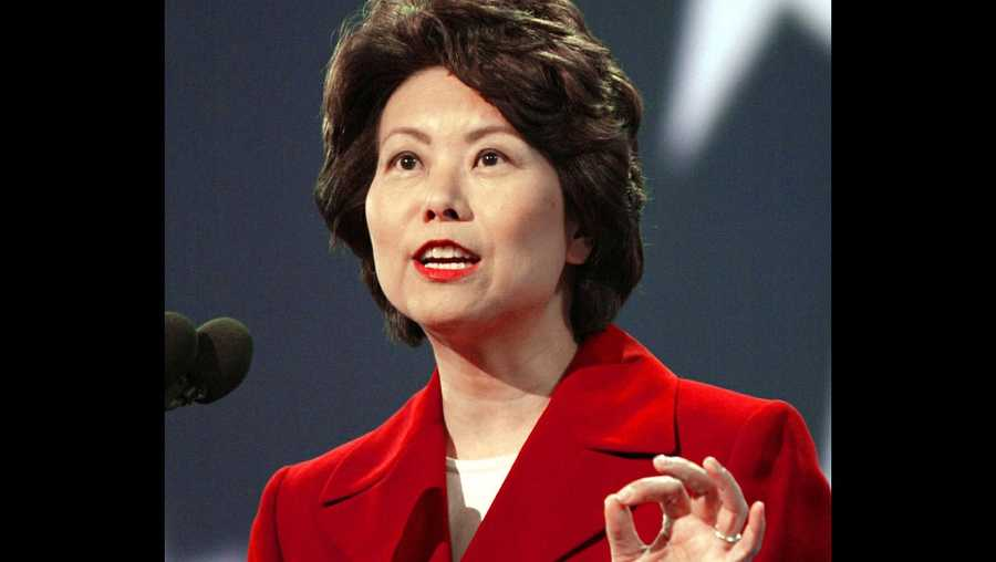 Elaine Chao will serve as Trump's Secretary of Travel.