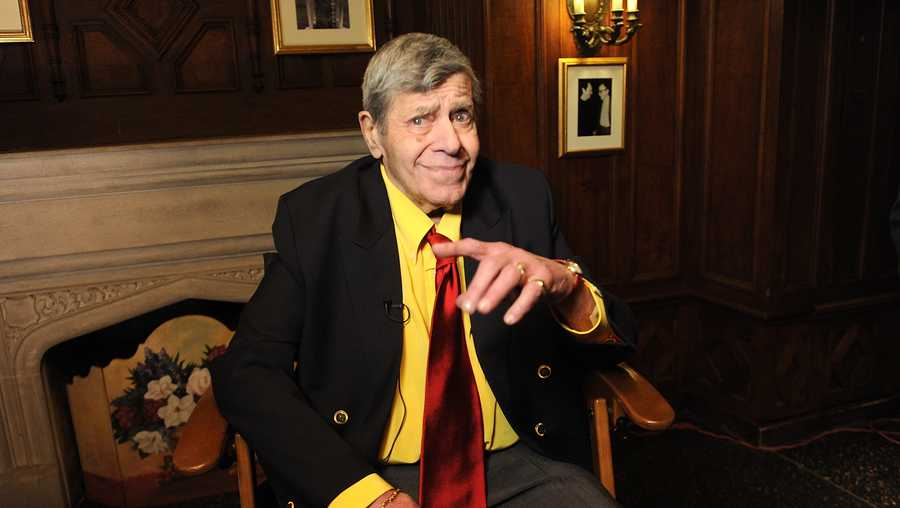 In this April 8, 2016 file photo, entertainer Jerry Lewis poses for a portrait at the Friars Club before his 90th birthday celebration in New York.
