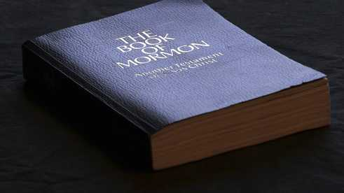 The Book of Mormon is shown Tuesday, Aug. 21, 2018, Salt Lake City. Sheraton, Westin and other Starwood hotels are finding their religion. Marriott International, which bought Starwood two years ago, has begun putting copies of the Bible and the Book of Mormon in Sheratons, Westins and other hotels in the Starwood chain.