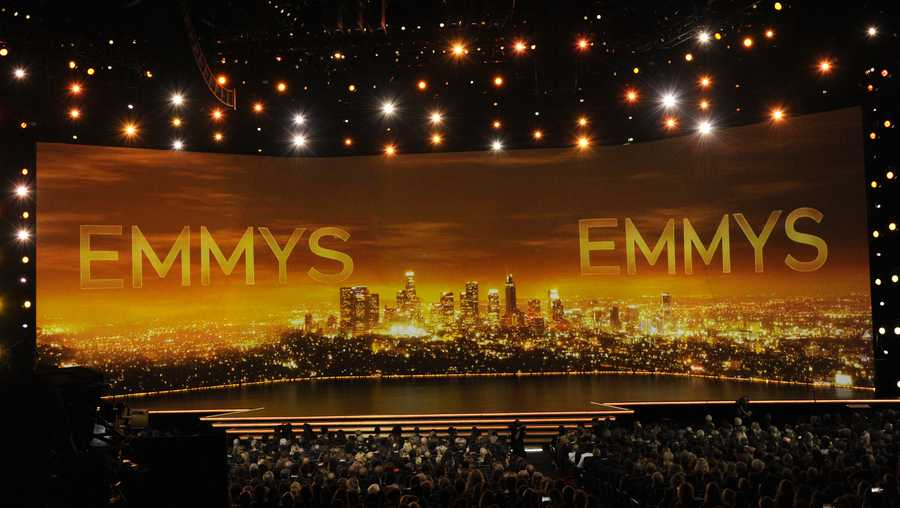 A view of the stage at the 71st Primetime Emmy Awards on Sunday, Sept. 22, 2019, at the Microsoft Theater in Los Angeles. (Photo by Chris Pizzello/Invision/AP)