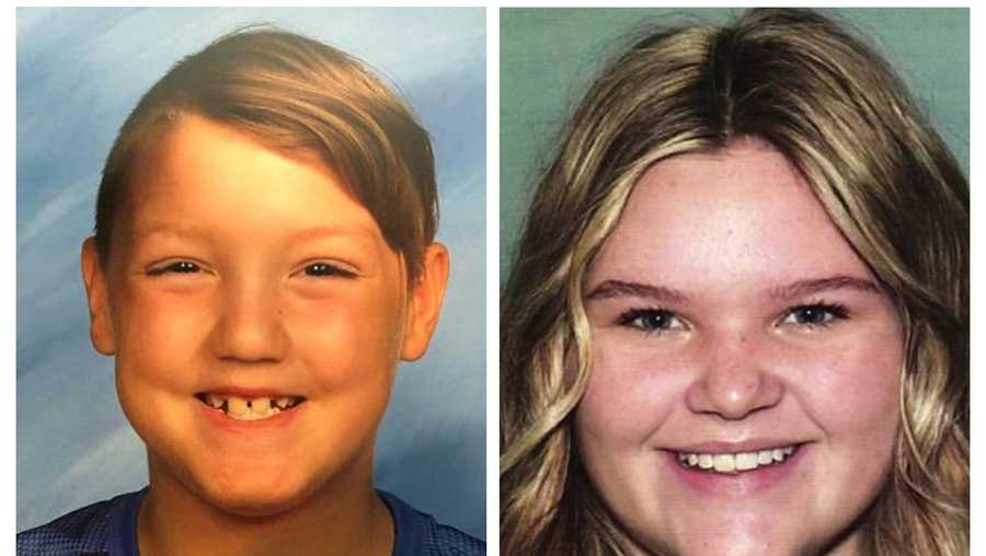 "This combination photo of undated file photos, released by National Center for Missing & Exploited Children, show missing children Joshua ""JJ"" Vallow, left, and Tylee Ryan."
