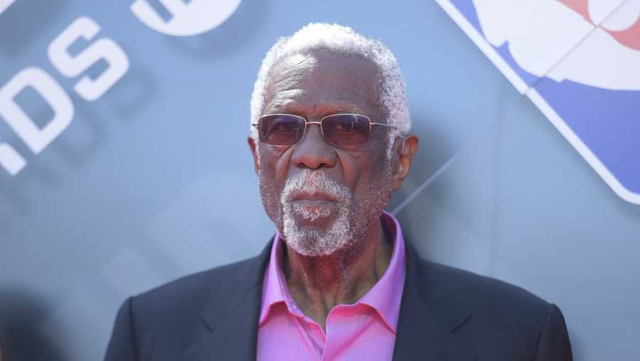 Bill Russell arrives at the NBA Awards on Monday, June 25, 2018, at the Barker Hangar in Santa Monica, Calif. (Photo by Richard Shotwell/Invision/AP)