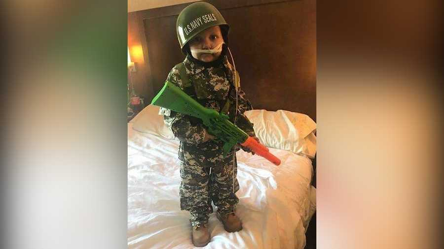 "During his short time, 5-year-old River ""Oakley"" Nimmo wanted nothing more than to one day be an ""Army man."""