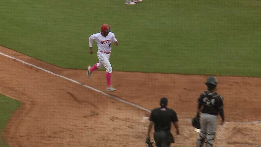 Louisville Bats get win over Charlotte Knights on Mother's Day.