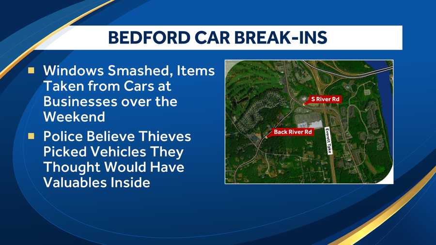 Bedford police investigating reports of valuables stolen from locked cars