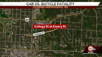 The crash happened at the intersection of College and Emery Streets in Independence, Missouri.
