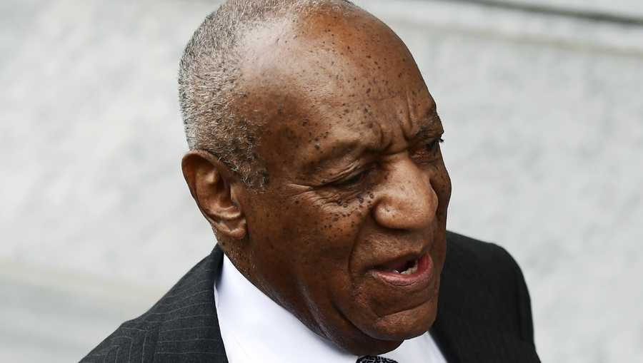 Bill Cosby arrives for jury selection in his sexual assault retrial at the Montgomery County Courthouse, Tuesday, April 3, 2018, in Norristown, Pa.