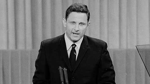 Birch Bayh speaking at 1968 Democratic National Convention