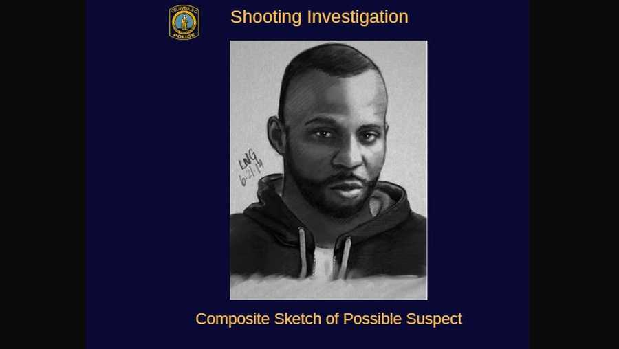 Sketch of Blossom Street shooting suspect