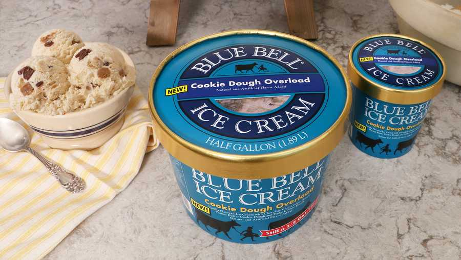 Blue Bell announces new flavor -- Cookie Dough Overload