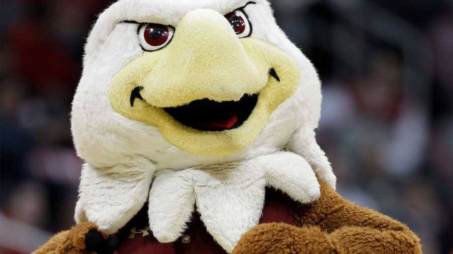 Boston College mascot perform during the first half of an NCAA college basketball first round game against the North Carolina State at the Atlantic Coast Conference tournament, Thursday, March 8, 2012, in Atlanta. (AP Photo)