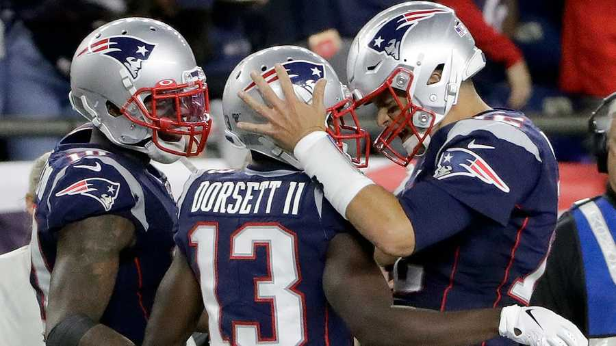 Tom Brady and Phillip Dorsett