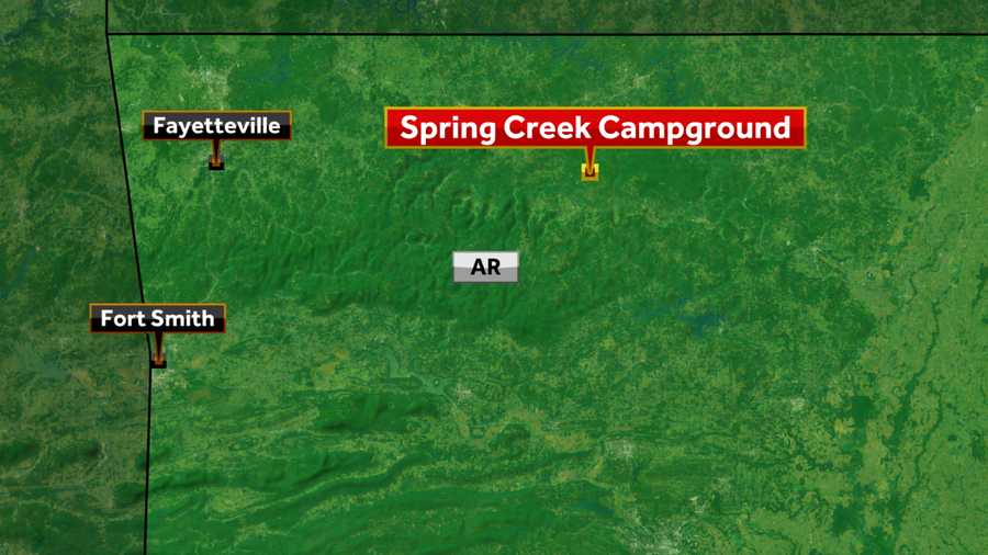 Map of Spring Creek campground