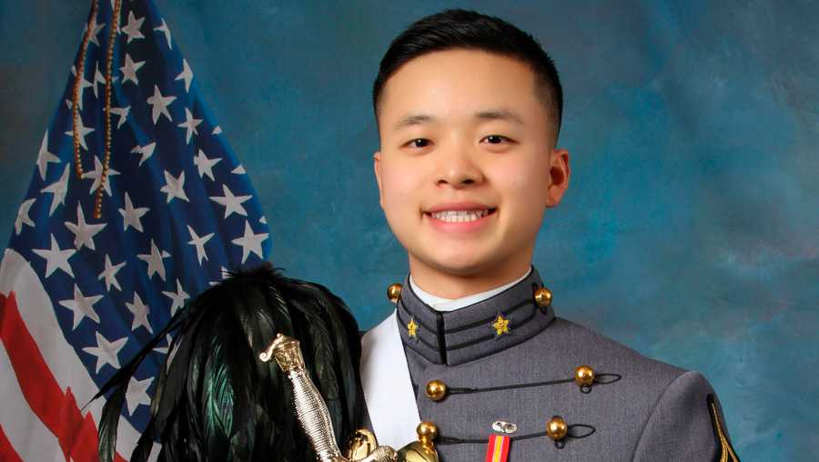 This undated photo provided by the U.S. Military Academy at West Point shows West Point Cadet Peter Zhu who died on Feb. 28, 2019 of injuries he sustained while skiing on Feb. 23 at Victor Constant Ski Area on the academy grounds.