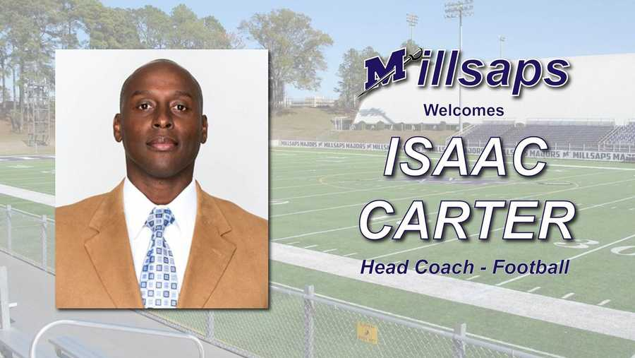 Isaac Carter football coach intro graphic