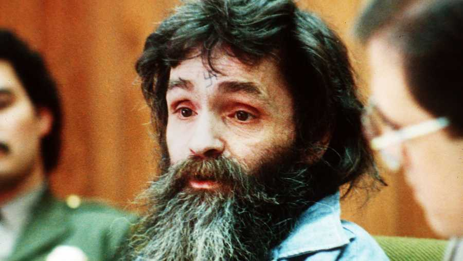 In this 1986 file photo, Charles Manson is seen in court.