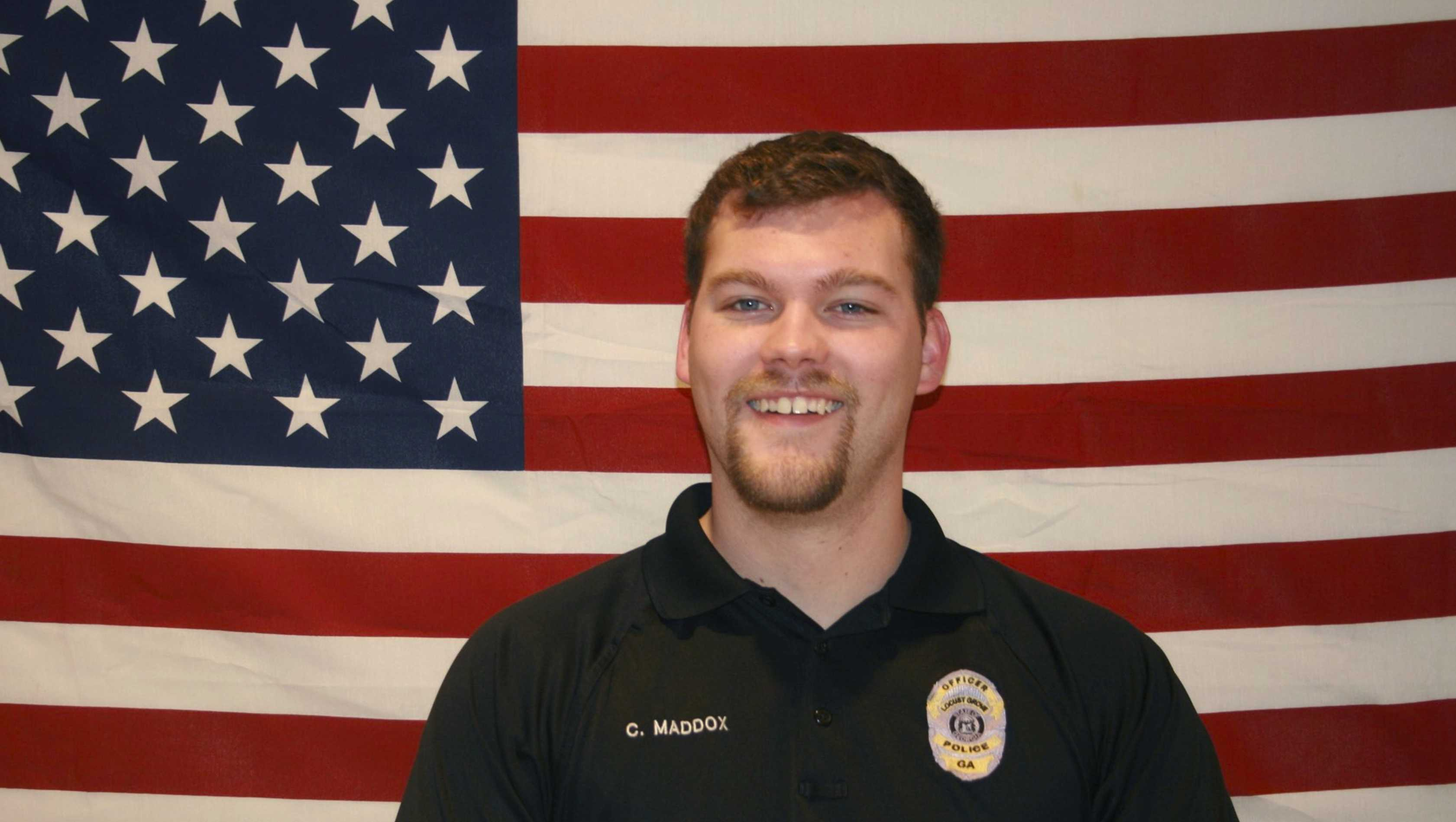This photo provided by Georgia Bureau of Investigation shows Locust Grove Officer Chase Maddox. Maddox was killed Friday, Feb. 9, 2018, and two deputies were seriously wounded in a shooting that also left a suspect dead south of Atlanta, authorities said.