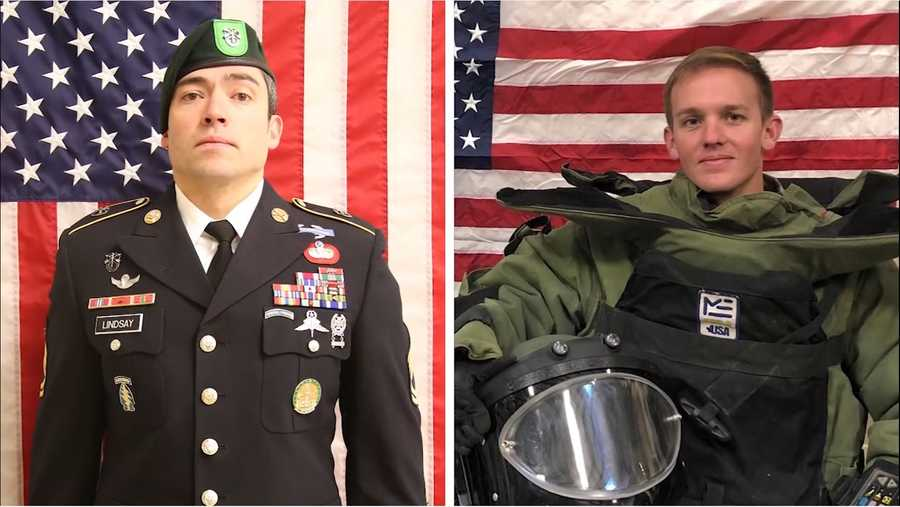 Sgt. 1st Class Will D. Lindsay and  Spc.  Joseph Collette