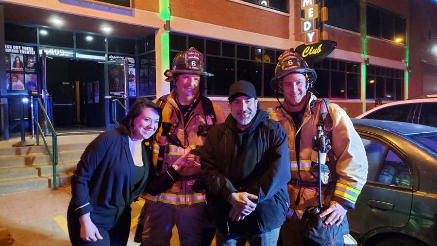 A carbon monoxide leak prompted an evacuation Friday night at Bricktown Comedy Club in Oklahoma City, and the featured comedian of the night, Dave Attell, was among those who had to leave the building.