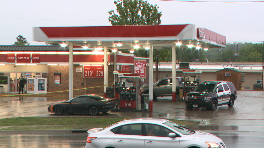 Scene of the armed robbery in Fayetteville