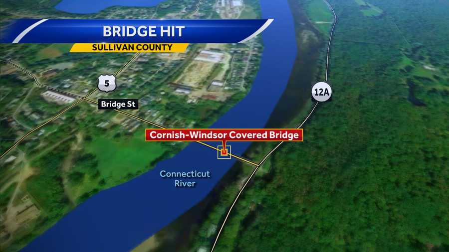 Man charged after box truck hits covered bridge, causes minor damage