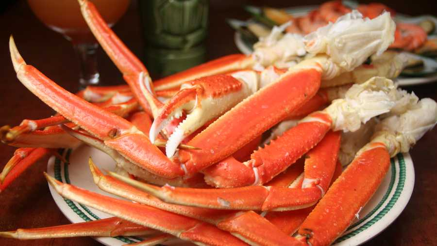 Crab legs file photo