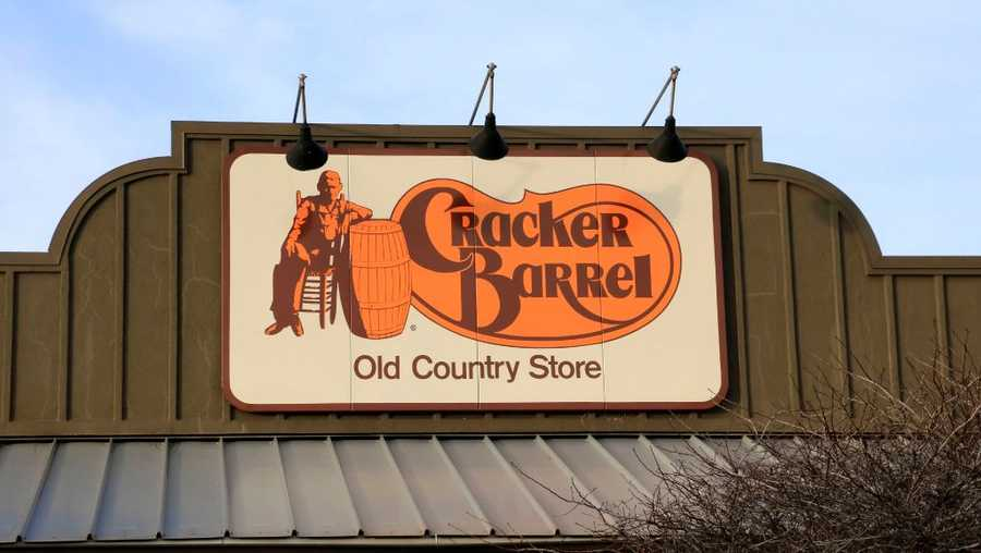 Cracker Barrel Old Country Store and Restaurant entrance sign, near Boise Idaho.