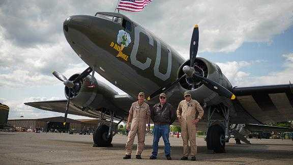 The largest collection of Dakota planes since WWII has assembled at Duxford, England in preparation for a flyover to mark the 75th D-Day anniversary.