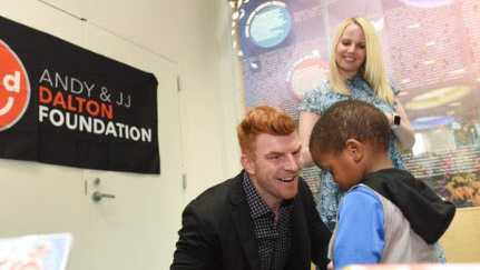 Andy Dalton donates hub with iPads, gaming consoles for patients at Children's Hospital